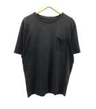 ルイヴィトン LOUIS VUITTON Tシャツ カットソー 半袖 ポケット ダミエ XL 黒 ブラック /KH