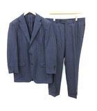 スーツ セットアップ 上下 テーラードジャケット パンツ シングル 3B サイドベンツ 52 XL 紺 ネイビー /KH