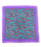 ジバンシィ GIVENCHY スカーフ 総柄 シルク 紫 パープル /SR ●D