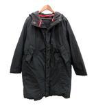 ダナキャランニューヨーク DKNY コート ダウン ロング フード L 黒 ブラック /HR