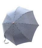 マリアフランチェスコ Maglia Francesco 折りたたみ傘 雨傘 ドット 紺 ネイビー /TU▲H