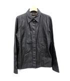 フェンディ FENDI デニム シャツ 花柄 刺繍 スナップボタン 長袖 42 黒  /☆G