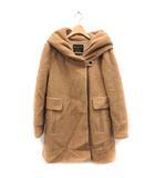 ブロードゥリー&コー Broderie&Co ナノユニバース コート ロング ウール 36 茶色 ブラウン /SR5