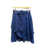 マルタンマルジェラ Martin Margiela MM6 スカート ひざ丈 フレア 42 青 ブルー /NT14