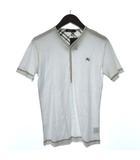 バーバリーブラックレーベル BURBERRY BLACK LABEL Tシャツ カットソー 半袖 リブ ヘンリーネック 2 白 ホワイト /TK ▲H