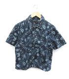 ルイヴィトン LOUIS VUITTON 18SS シャツ ダンガリー デニム 半袖 コットン S 紺 ネイビー /MF25