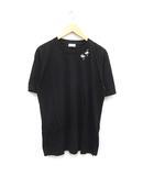 サンローラン パリ SAINT LAURENT PARIS Tシャツ 半袖 プリント フラミンゴ SL コットン XS 黒 ブラック /MF11