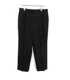 イヴサンローラン YVES SAINT LAURENT pour homme パンツ スラックス テーパード ウール 85cm 黒 ブラック /KH