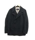 バーバリーブラックレーベル BURBERRY BLACK LABEL コート ダブル ショート丈 コットン M 黒 ブラック /KH ■CA