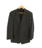 クリスチャンディオール Christian Dior テーラードジャケット 背抜き 2B ストライプ グレー /AA ■CA