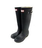 ハンター HUNTER レインブーツ 長靴 ラバー ロゴ UK4 紺 /YI34