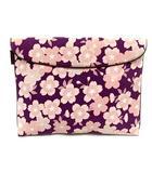 グローブトロッター GLOBE TROTTER バッグ クラッチ 桜柄 紫 パープル ピンク /SR ◎