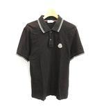 モンクレール MONCLER ポロシャツ 半袖 S 黒 ブラック /NT2