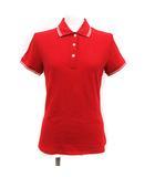 モンクレール MONCLER ポロシャツ 半袖 MAGLIA POLO MANICA CORTA ライン S 赤 レッド /KH