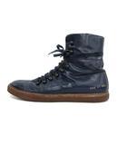 コモンプロジェクト COMMON PROJECT ブーツ ショート レースアップ レザー 41 紺 ネイビー /KH