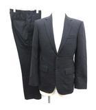タケオキクチ TAKEO KIKUCHI SCULPTURE セットアップ 上下 スーツ ジャケット パンツ ストライプ 紺 ネイビー /EK
