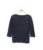 ルイヴィトン LOUIS VUITTON ポケットTシャツ カットソー 七分袖 XS 紺 /MY