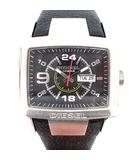 ディーゼル DIESEL 腕時計 スクエア アナログ クォーツ レザー 黒 DZ-1215 /☆G