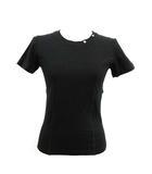 ルイヴィトン LOUIS VUITTON Tシャツ カットソー 半袖 無地 M 黒 ブラック /KH ■WY