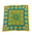 イヴサンローラン YVES SAINT LAURENT スカーフ 総柄 シルク 緑 黄色 青 グリーン イエロー ブルー /KH ■OH ■WY