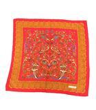 イヴサンローラン YVES SAINT LAURENT スカーフ 総柄 シルク 赤 レッド /KH ■OH ■WY