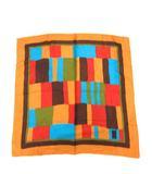 イヴサンローラン YVES SAINT LAURENT スカーフ 総柄 YSL ロゴ シルク 茶 ブラウン キャメル /KH ■OH ■WY