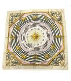 エルメス HERMES スカーフ カレ90 DIES ET HORE 占星術 シルク アイボリー /KH ■OH ■WY