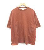 ナンバーナイン NUMBER (N)INE Tシャツ カットソー 半袖 オーバーサイズ 3 L エンジ 赤茶 /KT