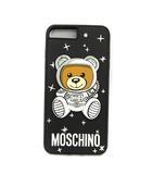 モスキーノ MOSCHINO iPhoneケース 6 6S 7 8Plus 総柄 クマ 黒 ブラック /KH ■SP