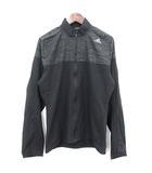 アディダス adidas トラックジャケット ナイロン ジャケット ジップアップ L 黒 グレー  /☆G