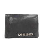 ディーゼル DIESEL カードケース 名刺入れ レザー ロゴ 黒 ブラック /PJ