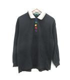 ケンゾー KENZO GOLF ヴィンテージ ポロシャツ 長袖 日本製 4 XL 黒 ブラック /PJ