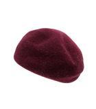 アクアガール aquagirl 帽子 ベレー帽 ウール 紫 パープル /SR1