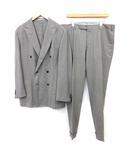 soho スーツ セットアップ 上下 テーラードジャケット パンツ ダブル 6B サイドベンツ ストライプ 52 L グレー /KH ■IBS81