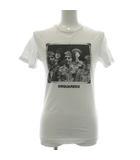 ディースクエアード DSQUARED2 Tシャツ カットソー 半袖 フォトプリント 12Y 白 ホワイト 黒 ブラック /PJ