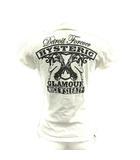 ヒステリックグラマー HYSTERIC GLAMOUR ポロシャツ コットン ロゴ 刺繍 プリント 半袖 F 白 /YI12