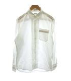 ポールスミス PAUL SMITH ワイシャツ 長袖 レギュラーカラー L 白 ホワイト /PJ