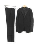 ディオールオム Dior HOMME 40 XS スーツ セットアップ 上下 テーラードジャケット シングル 総裏地 1B パンツ スラックス 黒 ブラック /TK ●D