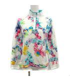 レオナールスポーツ LEONARD SPORT ポロシャツ 長袖 花柄 フローラル 44 2XL 大きいサイズ アイボリー /KH ■ISB81