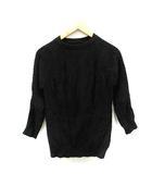 モロコバー MOROKO BAR ニット セーター クルーネック 七分袖 F 黒 ブラック /SR13