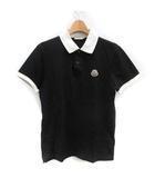 モンクレール MONCLER S ポロシャツ 半袖 ワンポイント 黒 ブラック /TK ■EC