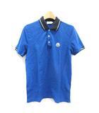 モンクレール MONCLER S ポロシャツ MAGLIA POLONIEX MANICA CORTA 半袖 青 ブルー /TK ■EC