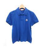モンクレール MONCLER ポロシャツ ロゴ 半袖 コットン S 青 ブルー /YM ■EC