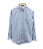 バーバリー BURBERRY チェックシャツ 長袖 コットン ボタンダウン 39 M 水色 /BM10