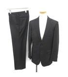 五大陸 gotairiku シングル スーツ セットアップ 上下 ストライプ テーラード ジャケット 2B サイドベンツ パンツ 40 L 黒 ブラック /YM