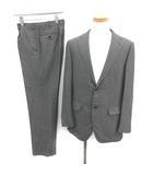 五大陸 gotairiku シングル スーツ セットアップ 上下 ストライプ テーラード ジャケット 2B サイドベンツ パンツ 40 L グレー /YM