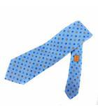 シャネル CHANEL 06P ネクタイ クローバー ココマーク シルク イタリア製 青 ブルー 黄 イエロー /BM15