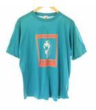 ヴィンテージ VINTAGE JERZEES 80s Tシャツ カットソー クルーネック 半袖 デザイン L 青 ブルー /BM2