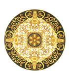ヴェルサーチ ヴェルサーチェ VERSACE ローゼンタール Rosen thal バロッコ Barocco 大皿 飾り皿 プレート 黄 黒 ※U11