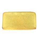 ルイヴィトン LOUIS VUITTON モノグラム ヴェルニ ジッピーウォレット 長財布 ラウンドファスナー パテント レザー M90142 シトリン イエロー 黄色